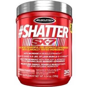 shatter sx 7 175g muscletech dpre workout energizzante