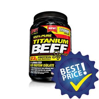 titanium beef protein 908g san nutrition