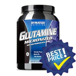 glutammina micronizzata per recuperasre meglio prodotta da dymatize