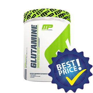 mp glutamine integratore di tre fonti diverse di glutammina, ottimo pre e post allenamento