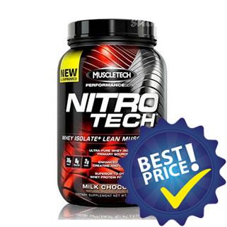 nitro tech performance series proteina del siero con creatina e taurina