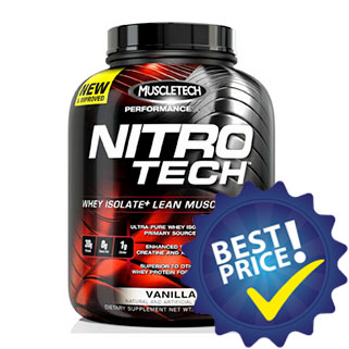 nitro tech performance series proteina in blend da isolato e concentrato del siero