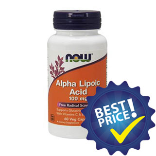 alpha lipoic acid 100mg 60cps now foods