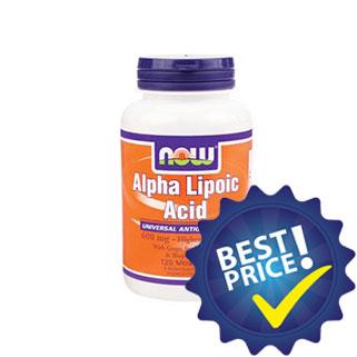 alpha lipoic acid 600mg 120cps now foods