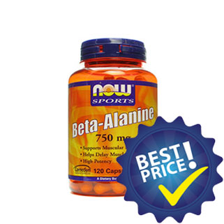 beta alanina 750mg 120cps now foods