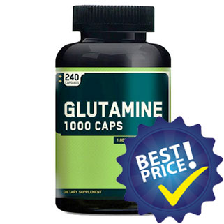 glutammina 1000 240cps optimum nutrition