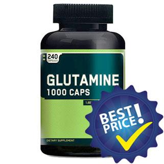 glutammina 1000 240cps optimum nutrition