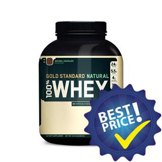 gold standard natural whey proteina del siero senza coloranti e conservanti