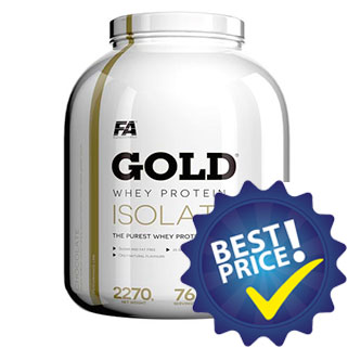 Gold Whey Protein Isolate 2,27kg Fitness Authority