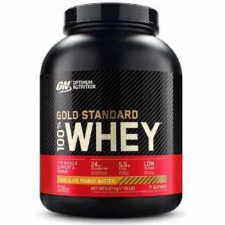 proteina in polvere della optimum nutrition in blend di siero del latte arricchito con bcaa e glutammina