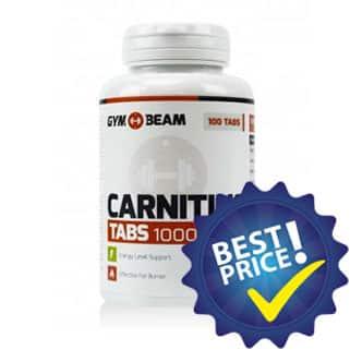 carnitine tabs 1000 milligrammi 100 compresse integratore di l-carnitina della gymbeam, utile come dimagrante energetico e antiossdiante