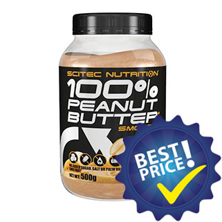 peanut butter smooth 500g scitec nutrition burro di arachidi naturale senza additivi