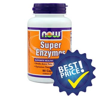 super enzymes 90cps now foods