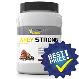 whey strong proteina del siero concentrata a freddo a rricchita con glutammina e taurina