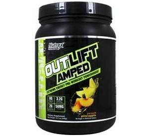 outlift amped pre workout 444g nutrex research