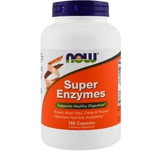 super enzymes capsules 90cps now foods