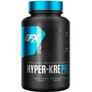 hyper kre pre workout 120 cps all america efx creatina alcalina per il pre allenamento