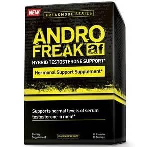 andro freak testosterone support 60 capsule della pharma freak, integratore pre workout e modulatore ormonale