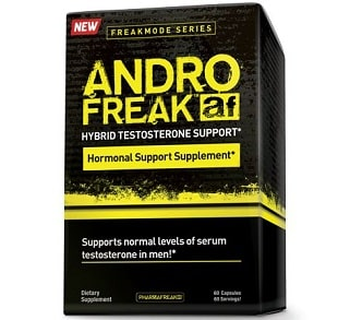 andro freak testosterone support 60 capsule della pharma freak, integratore pre workout e modulatore ormonale