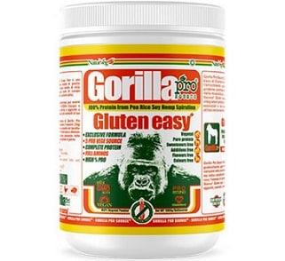 gorilla gluten easy proteina per vegano senza glutine e senza zuccheri, solo fonti vegetali nobili e nessun ingrediente artificiale