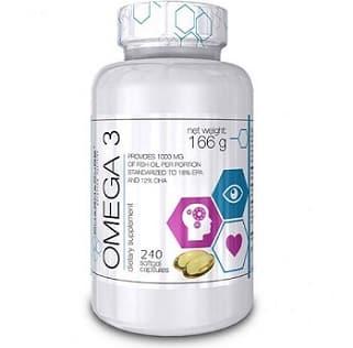 omega 3 fish oil 240 capsule pharmapure, acidi grassi essenziali e antiossidanti