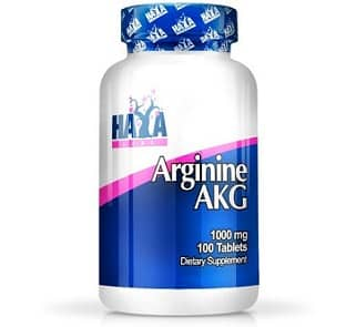 arginine akg 1000 integratore di arginina alfa cheto glutarato della haya labs ottimo come stimolatore dell'ossido nitrico