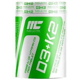vitamina d3 e k2 90cps muscle care integratore che migliora l'assorbimento del calcio e sostiene il rilascio del testosterone
