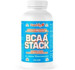 bcaa stack vega aminoacidi ramificati vegani della naturveg realizzati solo con fermentazione da vegetali