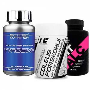 fat burner non stimulant pack pacchetto con carnitina, forskolina e tirosina