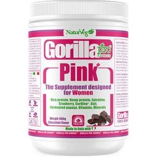 gorilla pink for woman proteina vegana a base di pisello e canapa arricchita di alga spirulina
