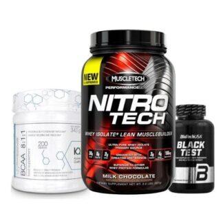 muscle growth pack pacchetto aumento massa con proteine, aminoacidi e un anabolizzante naturale