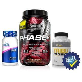 pacchetto risparmio per il recupero notturno, proteine graduali, tribulus e zma