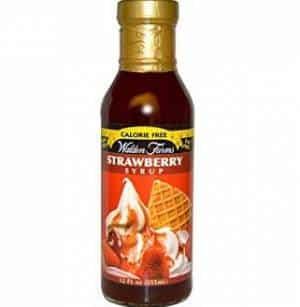 strawberry syrup walden sciroppo fragola zero calorie
