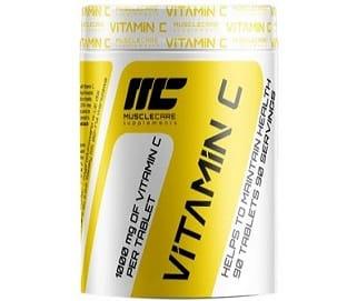 vitamina c 1000 90cps muscle care, antiossidante e di sostegno alla salute di pelle e capelli