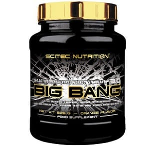 big bang 3.0 pre workout dimagrante scitec nutritiohn