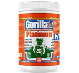 gorilla platinum proteina vegana da sette fonti, arricchita di spirulina, senza zuccheri ne grassi