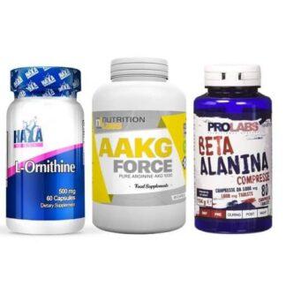 muscle pumping pre workout nsm bundle ornitina, arginina ebeta alanina per ossido nitrico