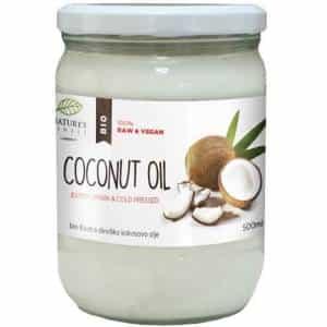 olio di cocco biologico spremuto a freddo, ottima fonte di grassi salutari per il corpo