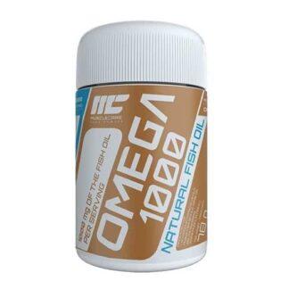 omega-3 1000 fish oil 120cps muscle care acidi grassi antiossidanti epa e dha