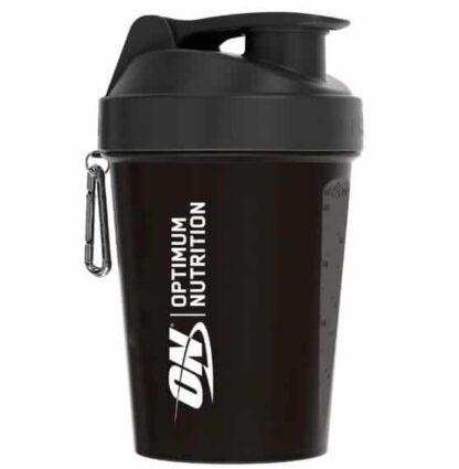 shaker optimum nutrition 600ml piccolo ma capiente, dallo stile accattivante