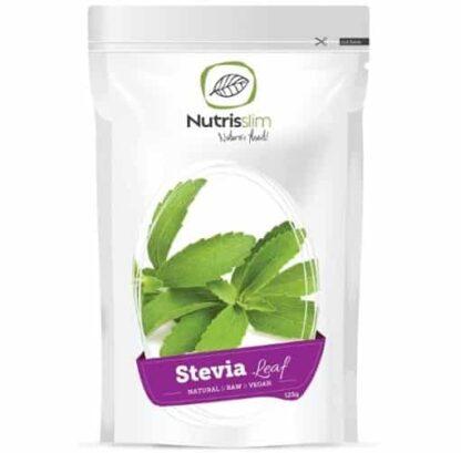 stevia estratto di foglie bio raw dolcificante a zero calore di origine vegetale ottimo per i vegani
