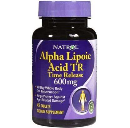 ala time release 600mg acido alfa lipoico antiossidante e antiage per la pelle