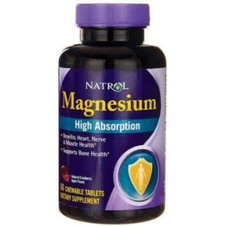 magnesio masticabile a rapido assorbimento, minerale energetico contro i crampi muscolari e addominali