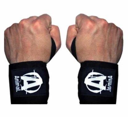 animal wrist wraps coppia polsiere palestra universal nutrition ottime per la panca ed il lento avanti