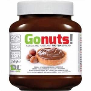 cioccolata proteica whey gonuts crema ipocalorica spalmabile al gusto cacao e nocciola