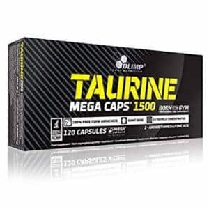 taurine mega caps 1500 integratore di taurina pura utile come pompante, volumizzante e anabolico energetico