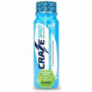 craze shot energy pre workout liquido mono dose a base di taurina beta alanina e stimolanti