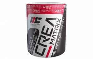 creamatrix powder integratore di tre tipi di creatina, ottimo come energetico e volumizzante per sviluppare massa muscolare