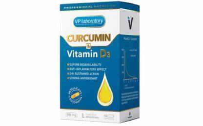 curcumina & vitamina d3 integratore antiossidante antinfiammatorio e per la densità delle ossa