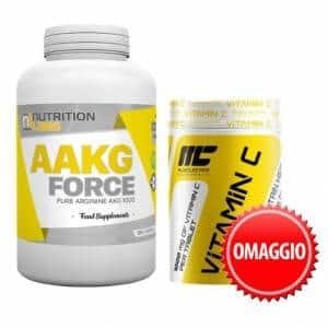 aakg force 180 con vitamina c pacchetto 2x1 per il pompaggio muscolare